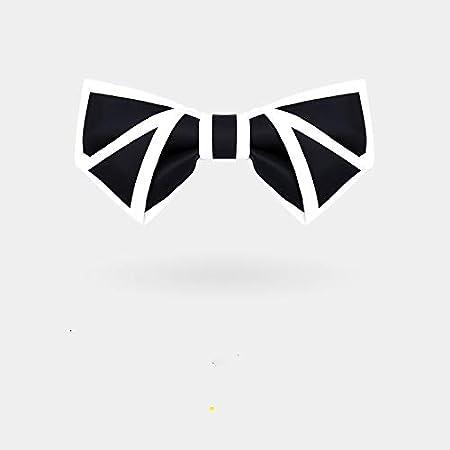 OYWNF Hecho a Mano Lado Blanco Negro Digital Offset Neckwear ...