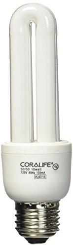 Coralife 05509 Mini Compact Fluorescent 50/50 Colormax Lamp, 10-Watt