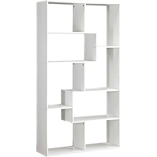 Mainstays Home 8-Shelf Bookcase (8-Shelf, White)