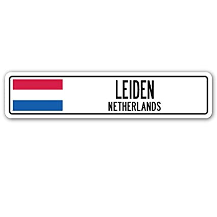Leiden, Países Bajos placa de calle netherlander holandés ...