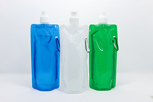 3 Pack Sneaky Flask Water Bottle White/Blue/Green