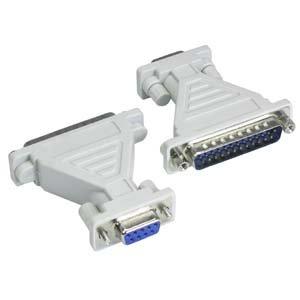 InstallerParts DB9-F/DB25-M Serial Adapter, Thumbscrew(DB9) / Hex Nut(DB25)