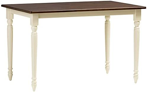 Baxton Studio Napoleon French Country Cottage Wood Dining Table Cherry Brown/Cream/French Country Cottage