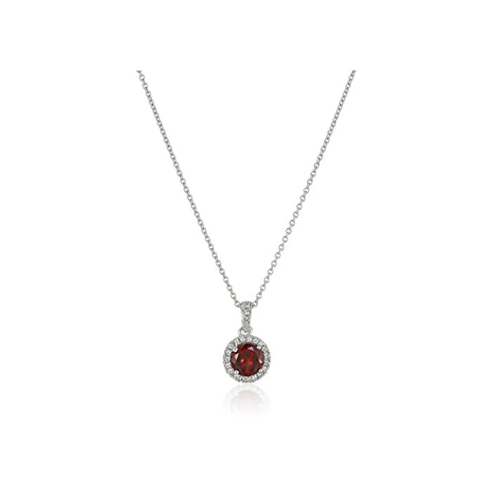 Sterling Silver Square Blue Green Fire Opal Inlay and Cubic Zirconia Pendant Necklace for Women, 46cm Box Chain - SC143n46
