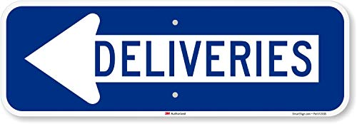 "SmartSign ""Deliveries"" Sign with Left Arrow 