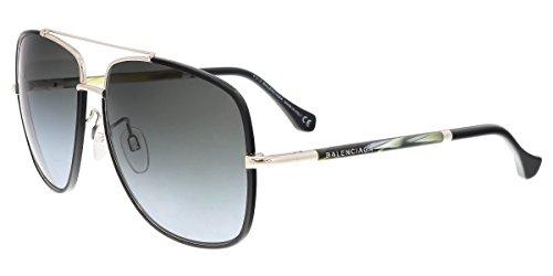 Sunglasses Balenciaga BA 61 BA0061 01B shiny black / gradient smoke - Men Sunglasses Balenciaga