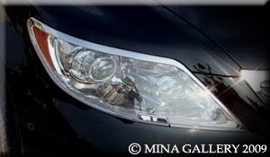 Mina Gallery Headlight Chrome Trim Set for Lexus LS LS460 2007 2008 2009