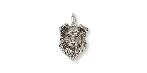 Border Collie Jewelry Sterling Silver Border Collie Charm Handmade Dog Jewelry BE1-C