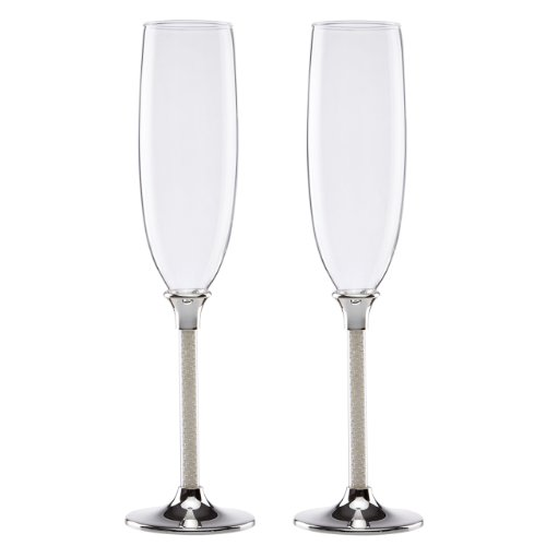 Lenox Jubilee Pearl 2-Piece Toasting Flute Set (Flutes Collection Toasting Heart)