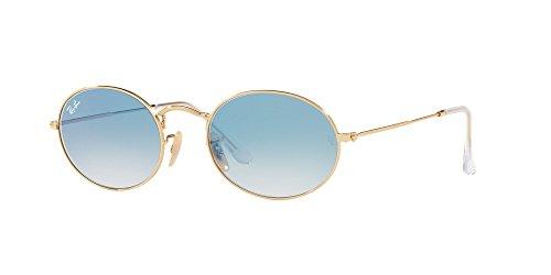 Ray-Ban Metal Unisex Oval Sunglasses, Arista, 53 - Flat Ray Ban Oval Sunglasses