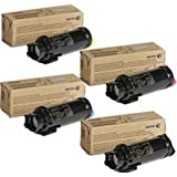 Genuine Xerox Extra High Capacity Toner Cartridge 4-Color Set for Phaser 6510, WorkCentre 6515
