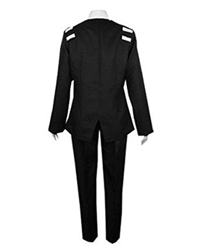 TISEA Halloween and Party Use Black Suit Uniform Cosplay Costume (L, Female) by TISEA (Image #2)