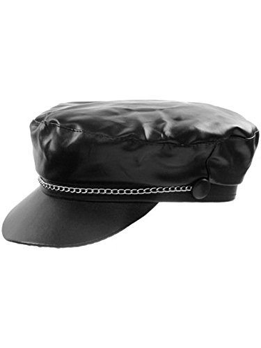 Forum Novelties Men's Adult Biker Hat Costume Accessory, Black, One Size