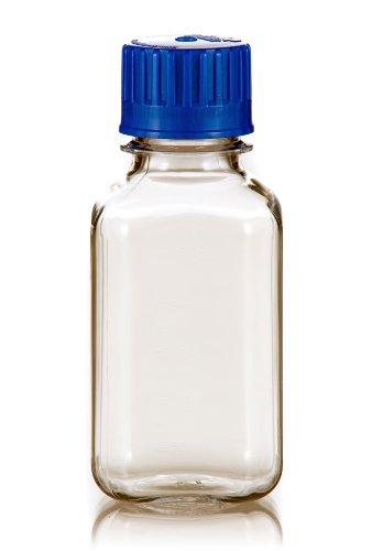Petg Square Media Bottle - TriForest BGC0250SB PETG Square Media Bottle, 250ml, 61