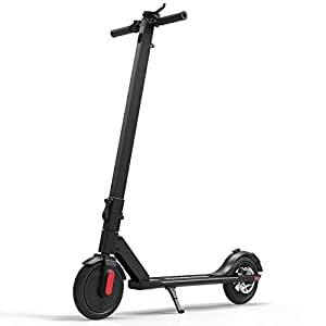 "MEGAWHEELS S5 Electric Scooter, 13 Miles Long Range Battery, Up to 15.5 MPH, 8.5"" Pneumatic Tires, Portable and Folding Commuter Electric Scooter for Adults"