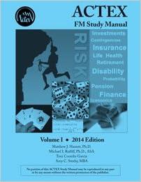 cover of ACTEX FM Study Manual