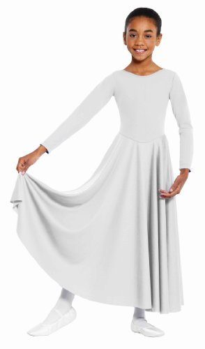 Eurotard  13524 Child Dance Dress (White, Medium)