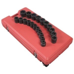 Sunex 5692 1-Inch Drive Fractional SAE 3/4-Inch to 2-Inch Impact Socket Set, 21 piece