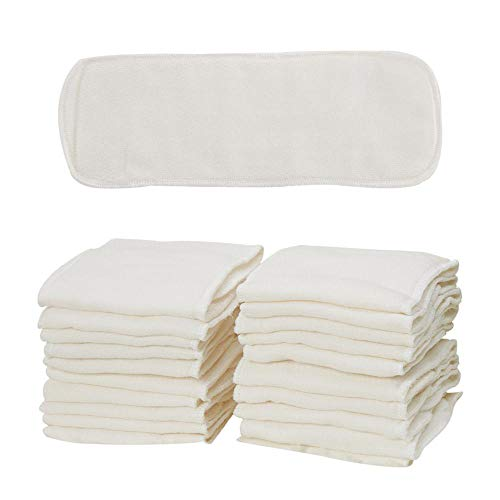 B-caton Birdseye Natures Cloth Diaper Inserts 4 Layers Cotton Inserts,Super Absorbent,13