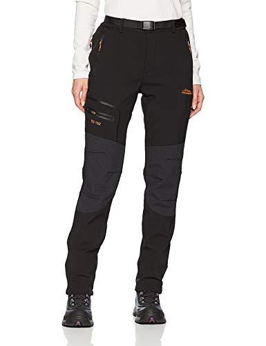 BenBoy Women's Outdoor Waterproof Windproof Fleece Cargo Snow Ski Hiking Pants,SF1602W Black L