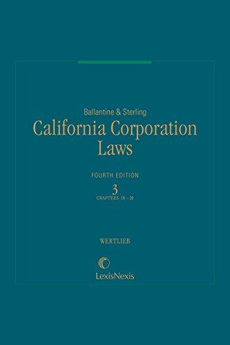 Ballantine & Sterling, California Corporation Laws, Volume 3