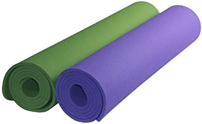 Yoga mat 床運動、フィットネス、ホットヨガ長さ180センチメートルX 80 Cmのに適した環境に配慮した、無味TPEノンスリップヨガマットエクササイズマット8cmの太いピラティスマット、 workout (色 : Green)