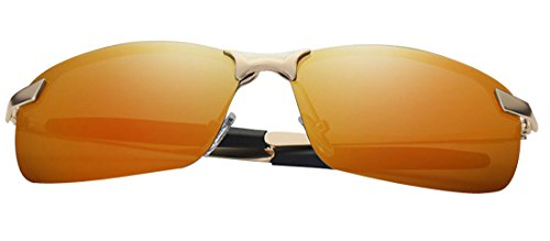 gold anti Driving HD JYR ultraviolet Men Sunglasses Sunglasses Sunglasses Fashion Tide Metal Polaroid Cool qPO5wzP