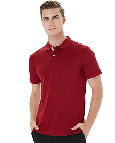 Kinlonsair Mens Casual Slim Fit Golf Polo Shirt, Athletic Short-Sleeve Polo Golf Shirts Tops