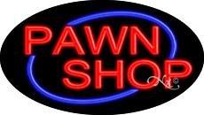 Pawn Shop Flashing Neon Sign - 17'' x 30''