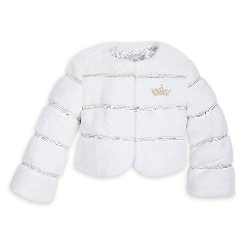 Disney Princess Jacket - Disney Princess Faux Fur Jacket for Kids Size 5/6 White