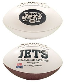 New York Jets Full Size Embroidered Signature Series Football by Jarden Consumer Solu