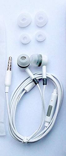 Wired In Ear Headphone with Mic  White