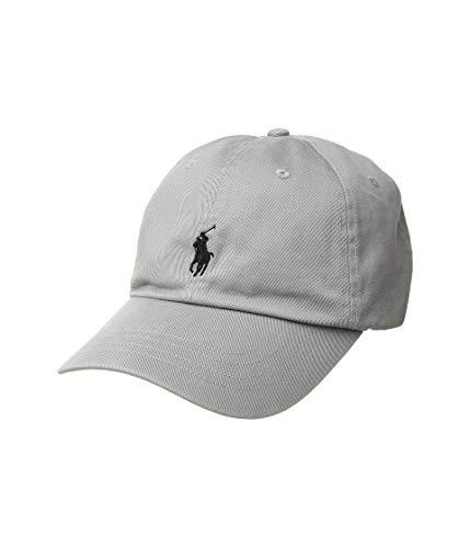 Polo Ralph Lauren Men`s Cotton Chino Baseball Cap (Soft Grey(5014)/Navy, One ()