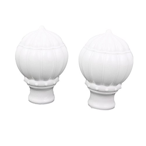 uxcell 27mm Dia Drapery Curtain Rod Pole Plastic Ends Caps Finials White (Plastic Rod End)