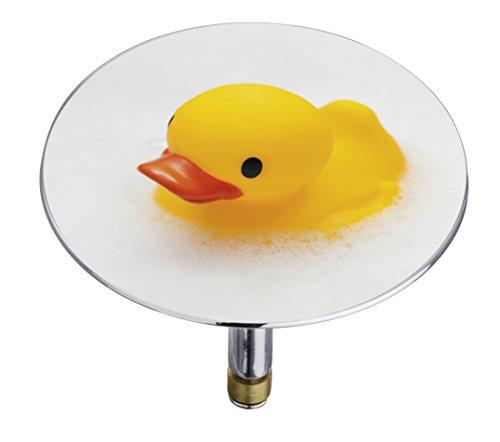 Wenko 21848100 Badewannenstöpsel Pluggy XXL Duck, Abfluss-Stopfen, für alle handelsüblichen Abflüsse, Kunststoff, 7,5 x 6 x 7,5 cm, mehrfarbig