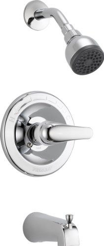 - Peerless Classic Single-Function Tub and Shower Trim Kit with Single-Spray Shower Head, Chrome PTT188753 (Valve Not Included)