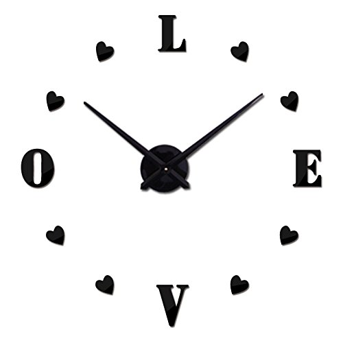 Treading - new wall clock reloj de pared quartz watch europe horloge home living room 3d