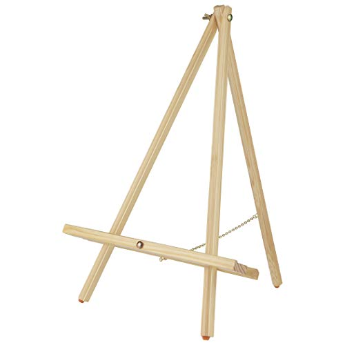 Tabletop Painting Easel Thrifty Table Easel Compact Easy Carry Art Easel Rubber Foot Pads Hold & Display Canvas, Panels, Signs, Photographs, Chalk Boards, White Boards - Natural - Single Easel ()