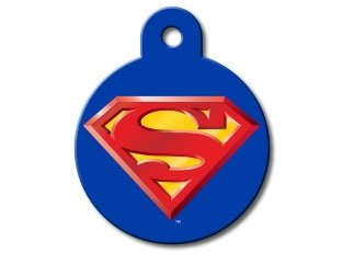 Super Hero Collection Licensed Personalized Custom Engraved Pet ID Tags! (Superman) -
