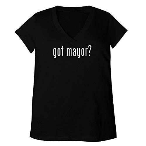 got Mayor? - Adult Bella + Canvas B6035 Women's V-Neck T-Shirt, Black, Large