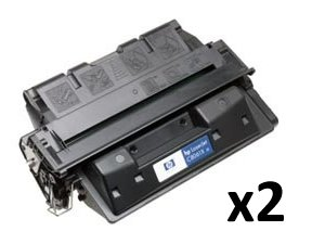 2 Pack – HP 61X (C8061X) Remanufactured 10000 Yield Black Toner Cartridge – Retail, Office Central