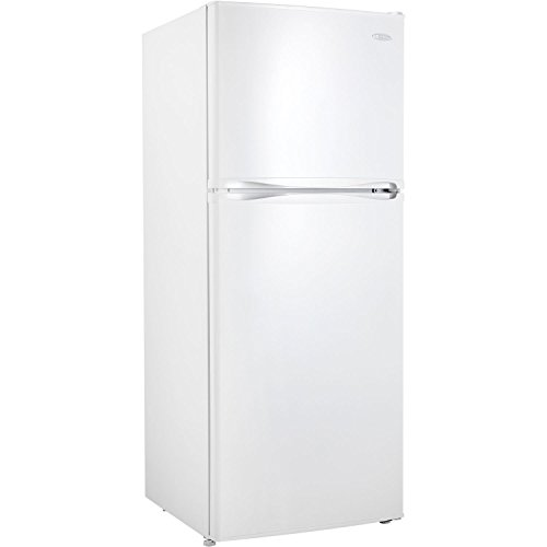 12.3 Cubic Foot Frost-Free Refrigerator with Top-Mount Freezer in White - Frost Free Top Mount Refrigerator
