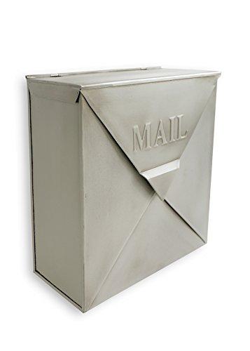 (NACH MB-6635SL Rockford Mailbox, Silver Finish - Wall Mounted Post Box, 10 x 4 x 10 inch)