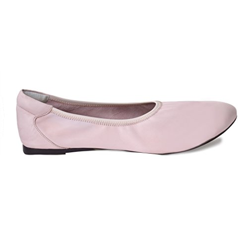Cocorose Foldable Shoes - Bloomsbury Ladies Leather Ballet Pumps - Pastel Pink - Size 7 Pastel Ballet Shoes