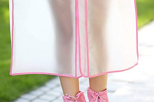Impermeabile Impermeabile Impermeabile Bordo Unisex Eva con Poncho Young Young Young Antipioggia Impermeabile Targogo Rosa Senza Plastica Avvolto Fashion in Rainwear Portatile Impermeabile AqCw1