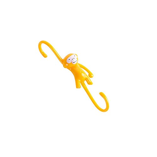 Just Hanging Kitchen Hook Kitchen Family Hipster Gift Monkey Business Bathroom Hook 10 Pieces-One arm (Yellow)