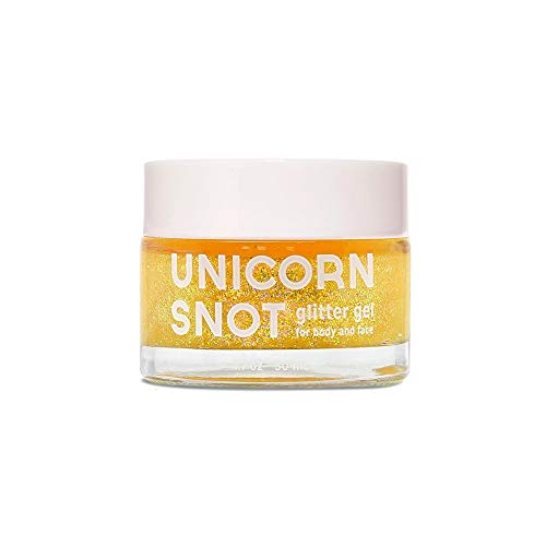 Gold Hair Spray (Unicorn Snot Holographic Body Glitter Gel - Vegan & Cruelty Free - Gift - Festival - Rave - Costume - Halloween - Gold,)
