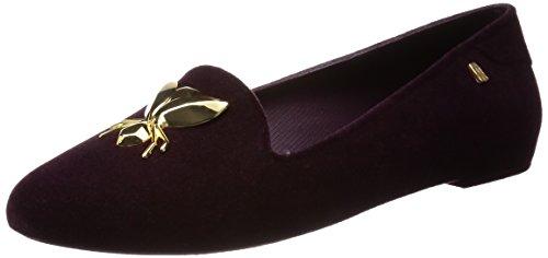 Melissa Womens Deugd Special Ii Enkelhoge Rubberen Platte Schoen Bordeaux Flocked