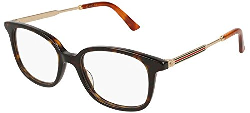 Gucci frame (GG-0202-O 002) Acetate - Metal Dark Havana - Gold (Gucci Brille Frames Für Frauen)