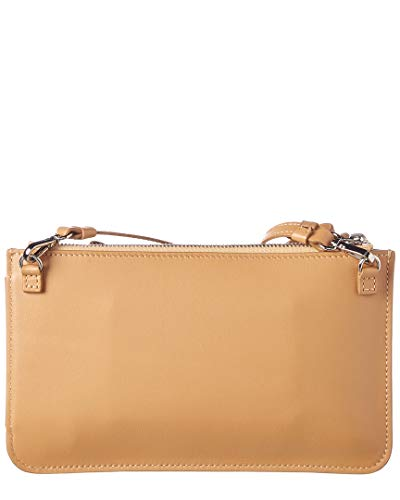 Brown Clutch Leather Mini Delpozo Bow Bag 86vxgw